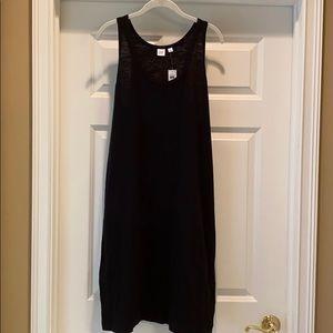 Gap black tank dress XL brand new